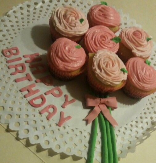 Ramo de rosas de cupcakes