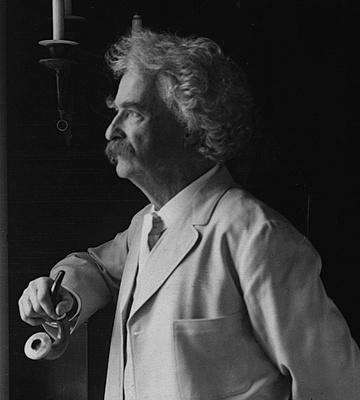 Mark Twain: Author, Humorist, Public Speaker, & Pipe Smoker. He was a friend to presidents, artists, industrialists, & European royalty - Tobacco Pipe Smoking