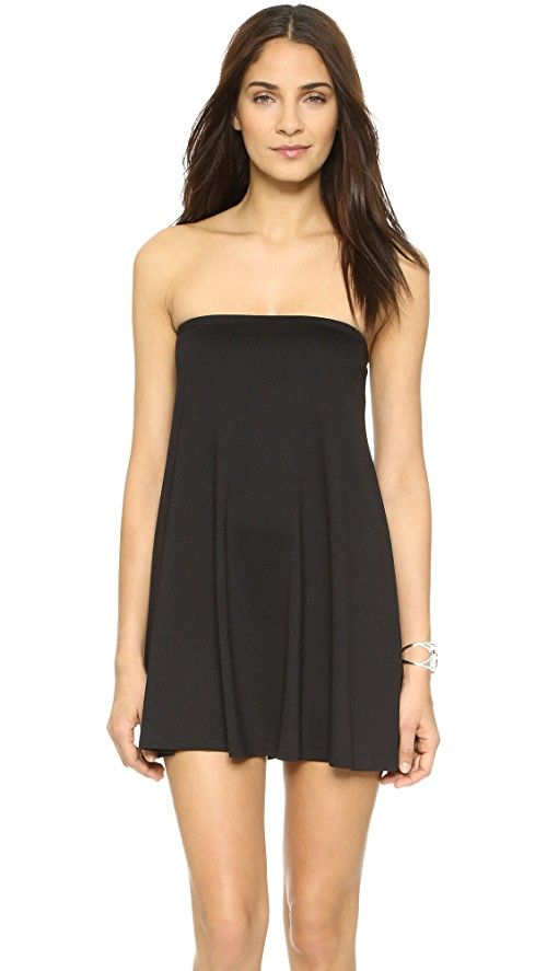 Susana Monaco Tube Drape Tunic Dress | A minimalist jersey Susana Monaco dress. Strapless. Shelf-bra lining. Fabric: Jersey. 94% supplex nylon/6% elastane. Wash cold or dry clean. Made in the USA. Measurements |  Length: 22in / 56cm, from center back Measurements from size S