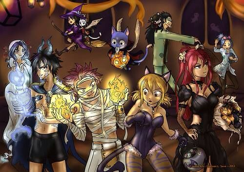 fairy tail halloween i love how gajeels and levys