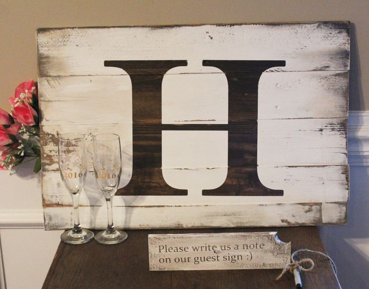 Rustic Wedding Guest Book Alternative - Unique Personalized Wedding Guest Sign