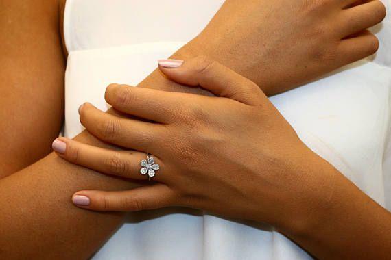 Blooming Flower Diamond Ring,Flower Diamond #jewelry #ring @EtsyMktgTool #flowershaped #diamondring #summerring #bridal #naturaldiamonds