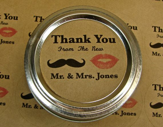 Personalized Wedding Favor Labels  20  2 Inch by glassactsupply, $5.00