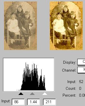 Tips for scanning and restoring old photos using the Clone Tool found in PhotoShop and similar programs