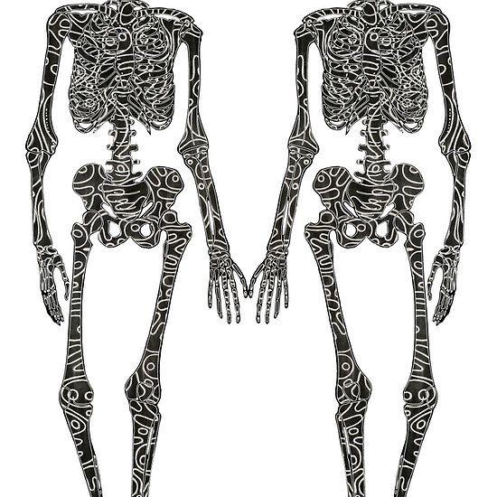 Till Death Do Us Part (2 skeletons) #samserif #tilldeathdouspart #2skeletons #skeleton http://www.redbubble.com/people/samserif/works/22306193-till-death-do-us-part-2-skeletons