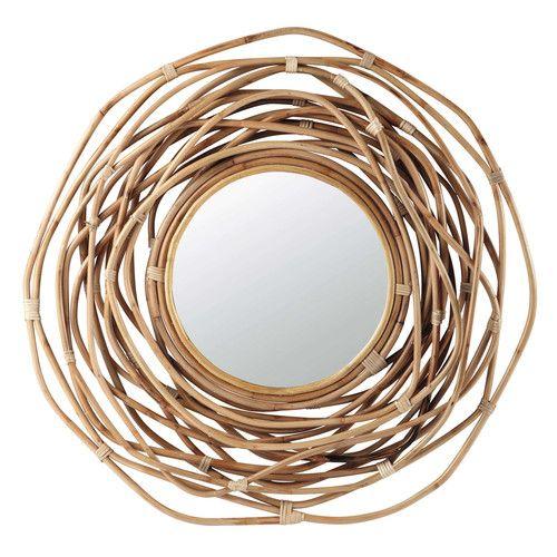 Specchio rotondo in bambù H 90 cm SUMBA Maisons du Monde