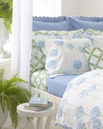 "Lulu DK for Matouk ""Charlotte"" Bed Linens. ""Madison Sheets"""