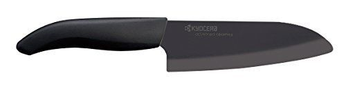 Kyocera Advanced Ceramic Revolution Series 512inch Santoku Knife Black Blade
