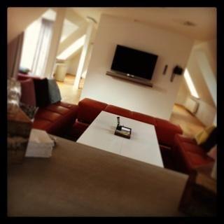 Meeting room in the loft.