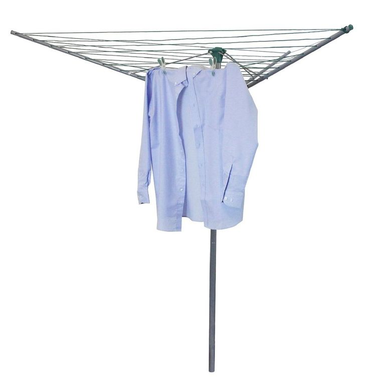 3 Arm 30M Rotary Airer Clothes Dryer Outdoor Laundry Washing Line &  Spike