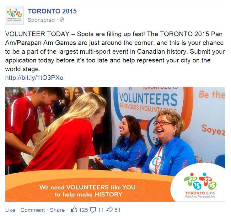 Toronto 2015 (Pan Am Games) FB Ad