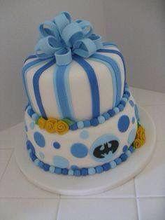 Batman Baby Shower Cake Idea For A Boy.