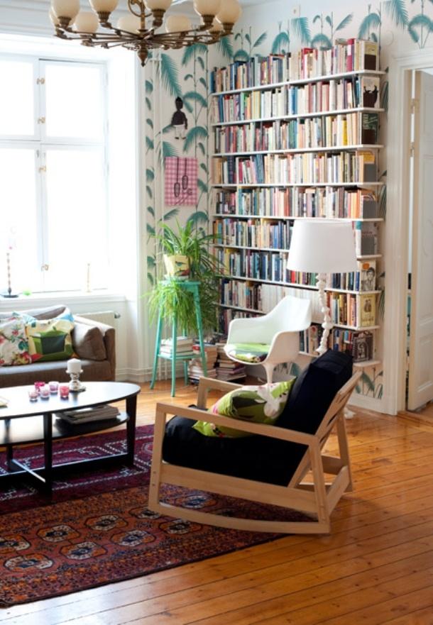 Best 25 wallpaper bookshelf ideas on pinterest cheap for Cool cheap bookshelves