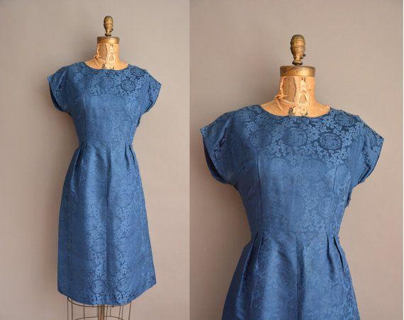 50 代中国のドラゴン ブロケード パイント ヴィンテージのドレス/1950 年代のドレス by simplicityisbliss