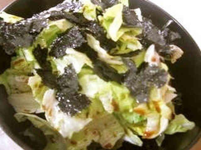 レタスと海苔だけで美味しいサラダ♪の画像