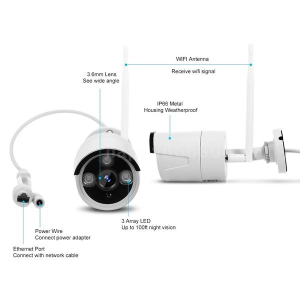 Kkmoon K8208 8 8ch Nvr 4 Cameras Wireless Nvr Kit Security Surveillance System 2mp 1080p Hd Wifi Home Security Camera Monitor Night Vision P2p Motion Detecti Security Cameras For Home Wireless
