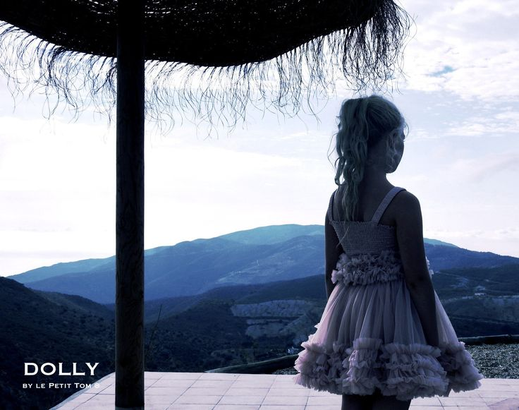 DOLLY by Le Petit Tom ® FRILLY SKIRT silvergrey