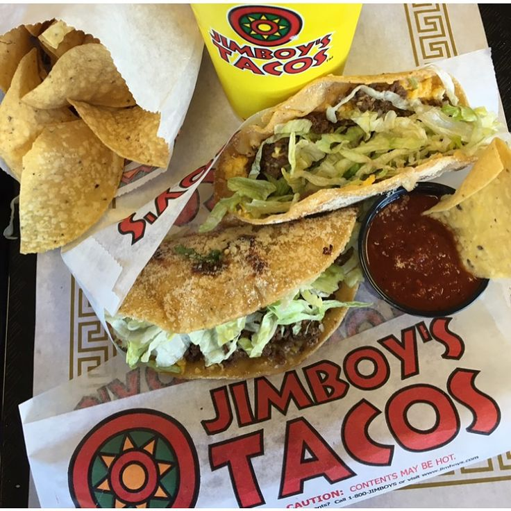 Jimboy's Tacos, this is the Tuesday Taco Special. All this food and a drink for $5.00 + tx