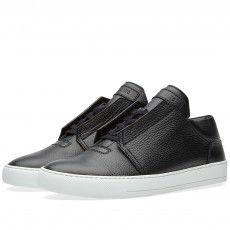 Helmut Lang Grain Leather Sneaker (Black)