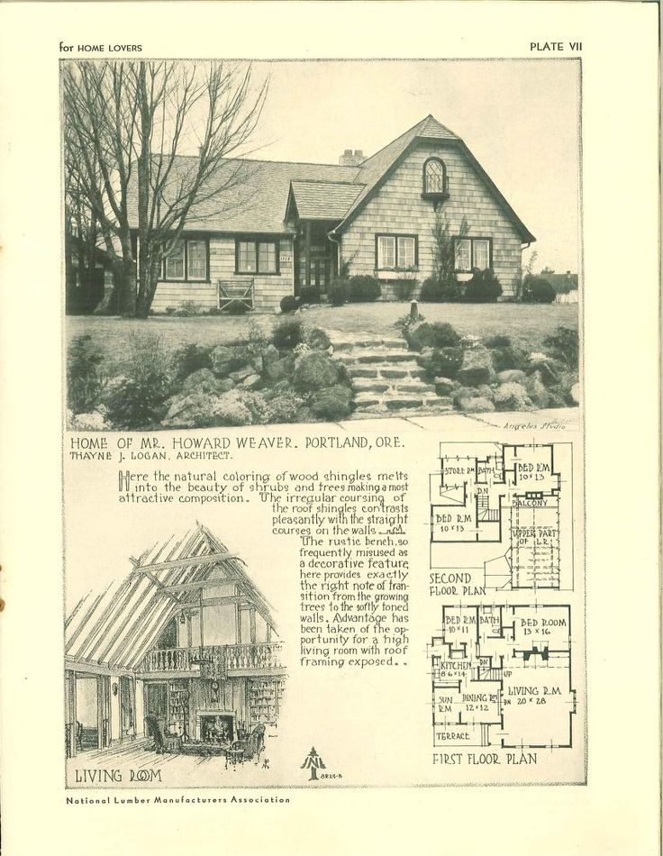 For Home Lovers 1929 Vintage House Plans 1920s House