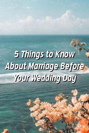 5 coisas a saber sobre o casamento antes do dia do casamento   – Relationship