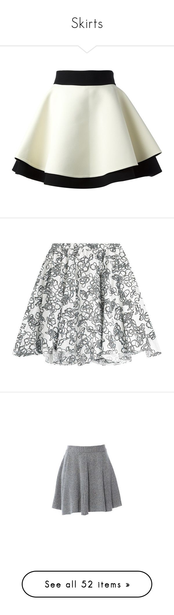 """""""Skirts"""" by isthelastofus ❤ liked on Polyvore featuring skirts, bottoms, saias, faldas, high-waisted skirts, double layer skirt, high-waist skirt, white high waisted skirt, layered skirt and day skirts"""