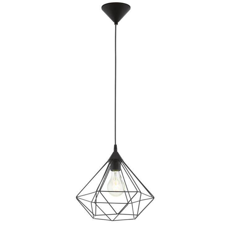 Lustră candelabru EGLO Tarbes 94188, D32,5 cm, negru