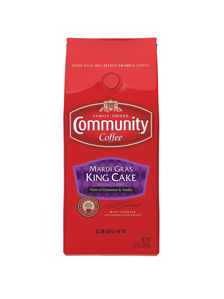 """Community Coffee Company Gets Brewing for Mardi Gras Announces Launch of LTO King Cake Coffee Flavor Have your cake…and drink it, too! Mardi Gras is here and so is the """"king"""" of flavored coffees, C..."""