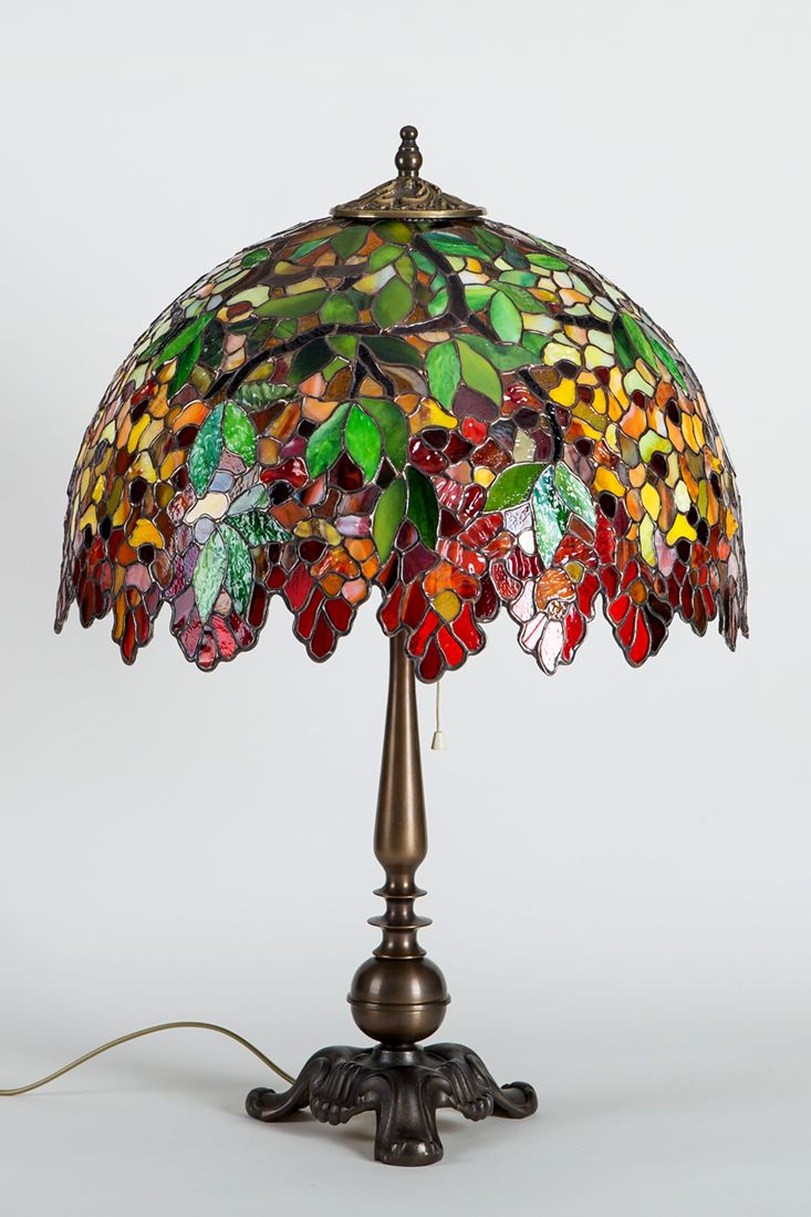 Stained Glass Lamp Art Nouveau Lamp Shade Gift For Christmas Modern Bedside Lamp Decor Lamba Cam Sanati Vitray