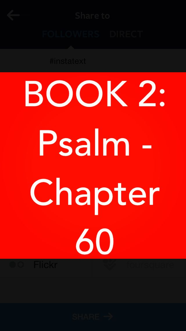 Bible Devotion: Psalm 60  This psalm gives us information about David's reign not found in the books of 1&2 Samuel or 1&2 Chronicle. Although the setting is found in 2 Samuel 8, that passage makes no reference to the fact that David's forces had met stiff resistance & apparently even a temporary defeat. The closer we get to God, the more our enemies will attack us because we threaten their evil & selfish way of living.  Verses I highlighted: 11, 12 http://bible.com/111/psa.60.11.niv