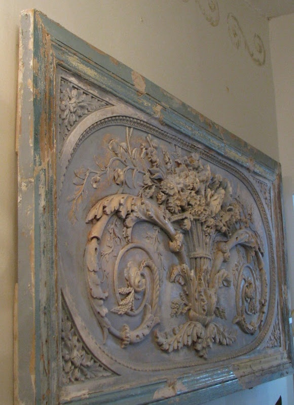 I've seen reproductions similar to this piece, but a pale blue antique French one is incomparable.