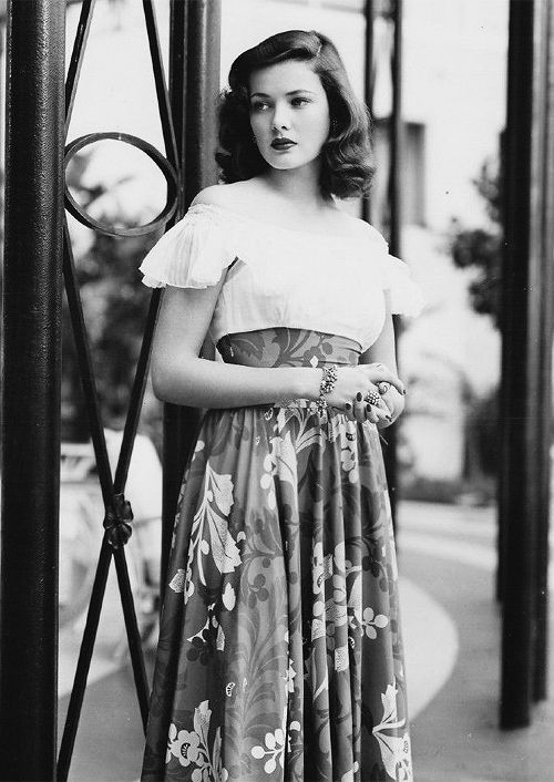 Gene Tierney - the strongest hair game of them all.
