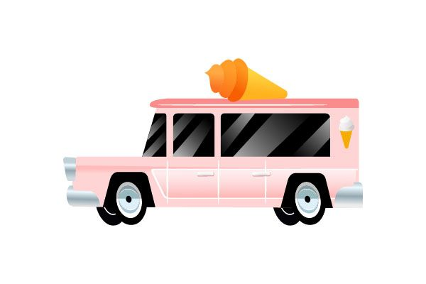 Icecream truck vector #icecream #truck #vector #vectorpack http://www.vectorvice.com/cars-vector