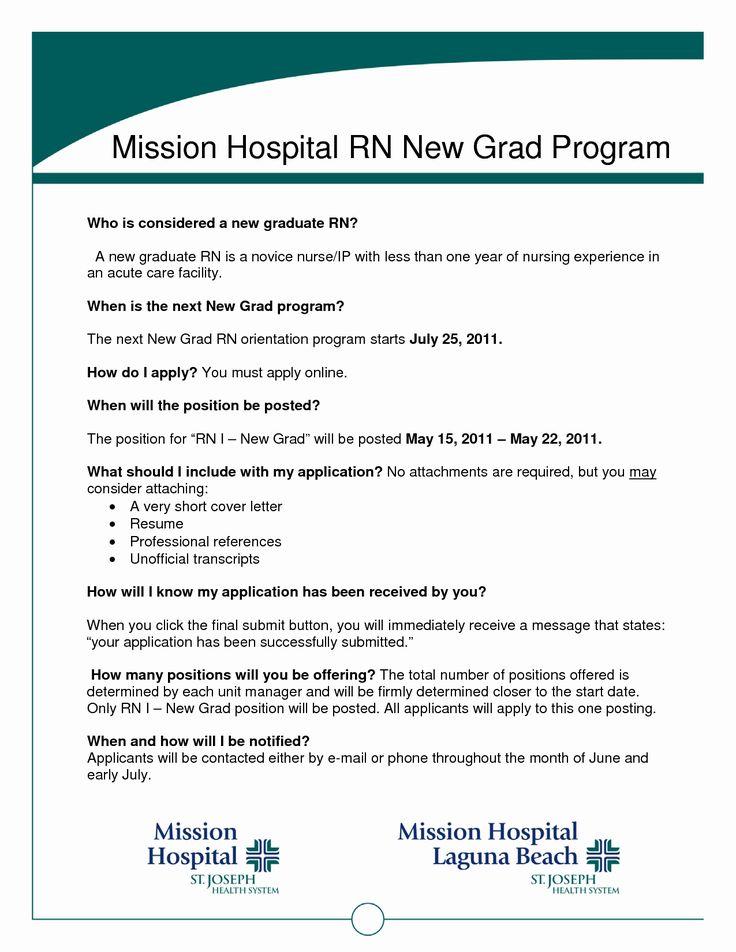 New Graduate Nurse Resume Examples Awesome Graduate Nurse