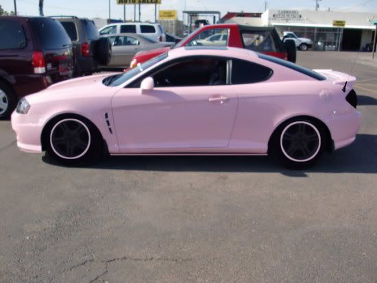 Pink Cars: Pink Hyundai Tiburon - Awesome Girly Cars & Girly Stuff!