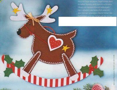 reindeer - paper craft pattern