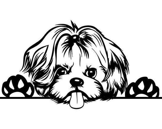 Yorkshire Terrier 4 Puppy Peeking Yorkie Dog Breed K 9 Etsy