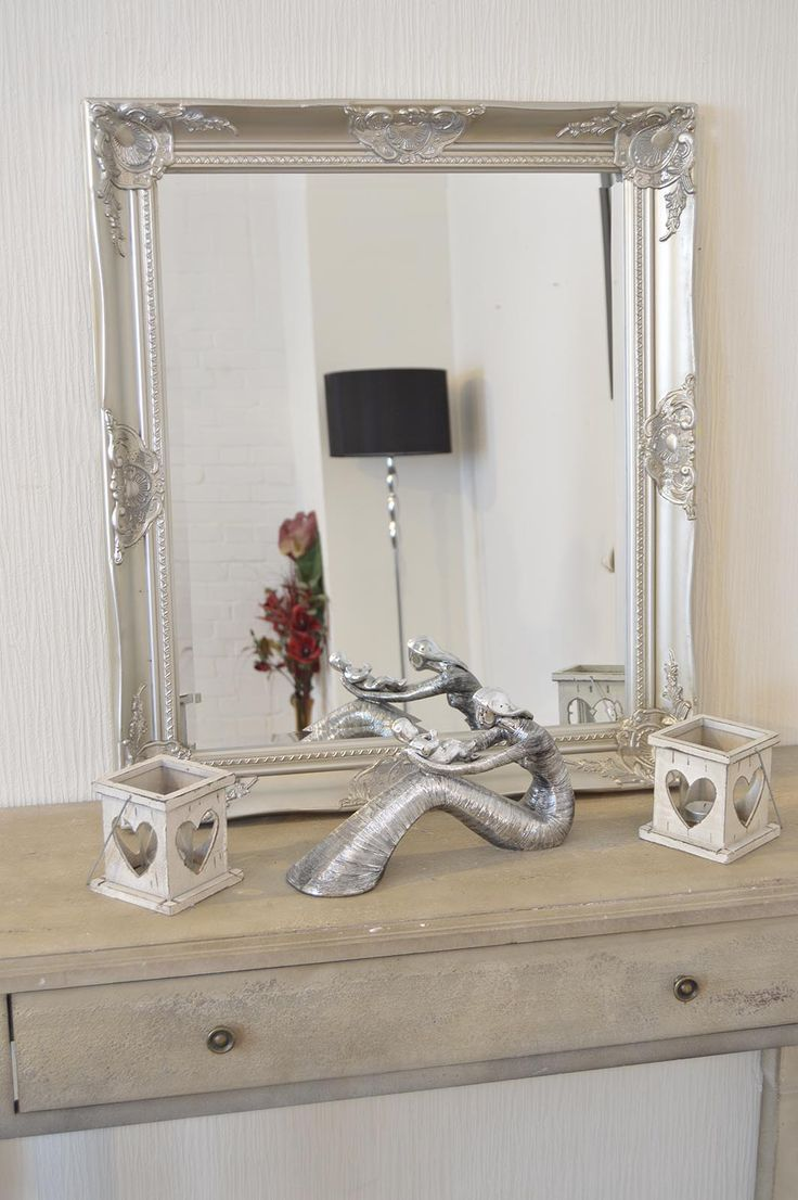 This cute elegant ornate wall mirror would look great in any room or  hallway of the