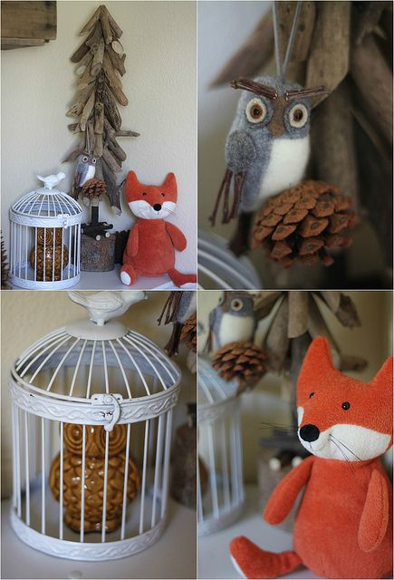 Woodland Nursery Decor, for your little one's nursery! So adorable and would fit in perfectly with Caden Lane's Woodland Deer Crib Bedding