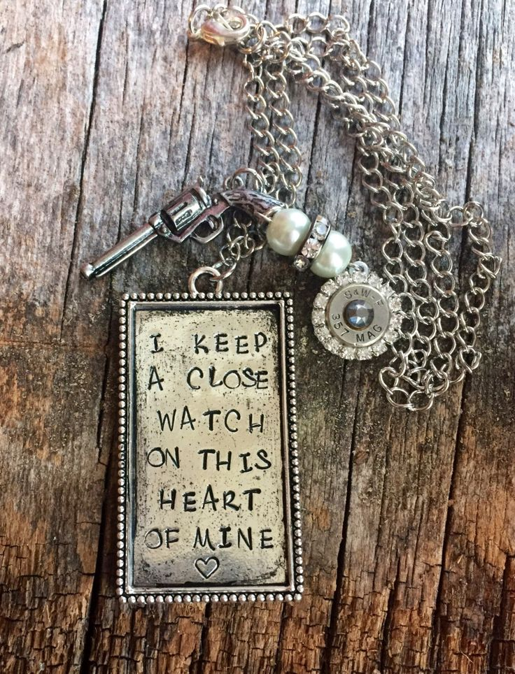 Johnny Cash Jewelry // I Keep A Close Watch On This Heart Of Mine // Johnny Cash Necklace // The Man In Black // Country Music // Pistol Gun