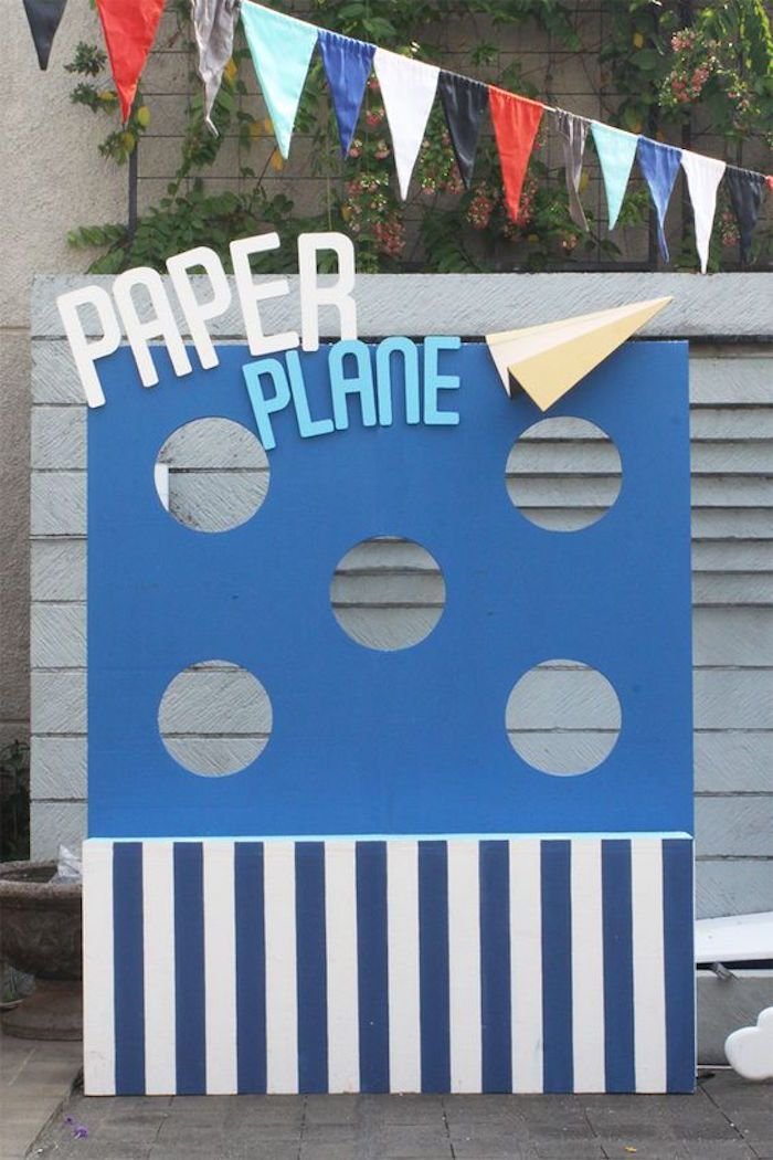 Paper Plane Activity from an Airplane Birthday Party via Kara's Party Ideas | KarasPartyIdeas.com (11)