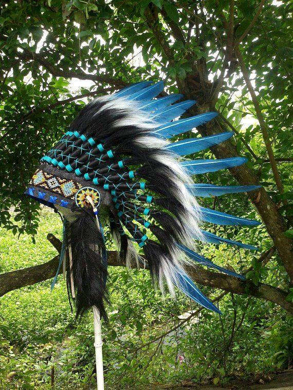 Kids Indian Headdress Indian Warbonnet by TheLandOfCockaigne