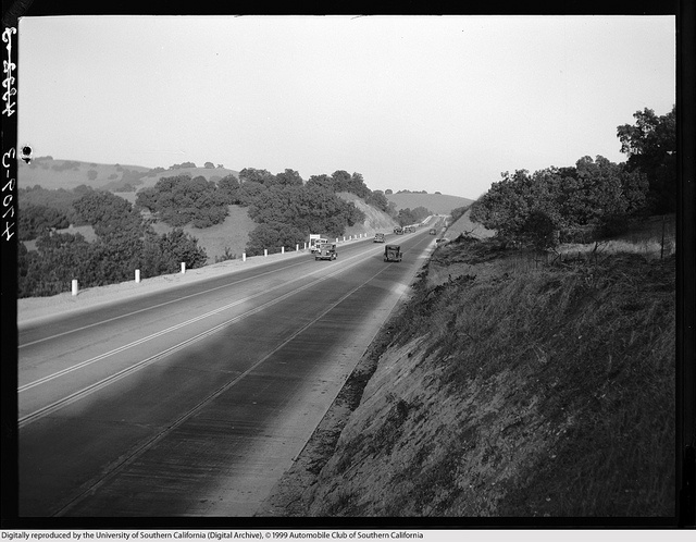 Hwy 99 (before I-10) Kellogg Hill West Covina 1938