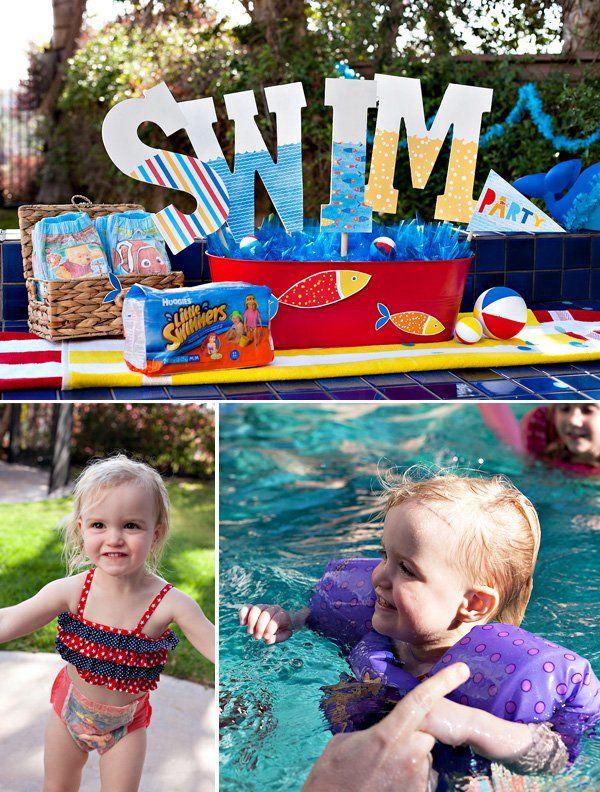 Idéias criativas para festas na piscina {ou Playdate} para pequenos nadadores   – Pool Party