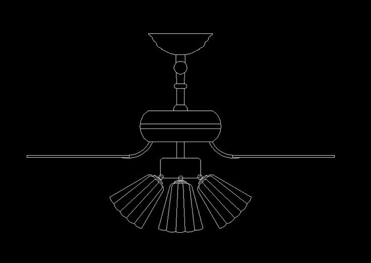 Ceiling lights facade cad drawings