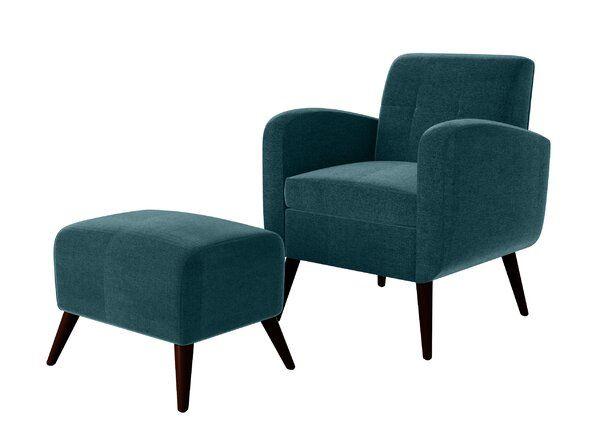 Joetta 20 Armchair And Ottoman In 2020 Armchair With Ottoman Ottoman In Living Room Guest Room Chairs