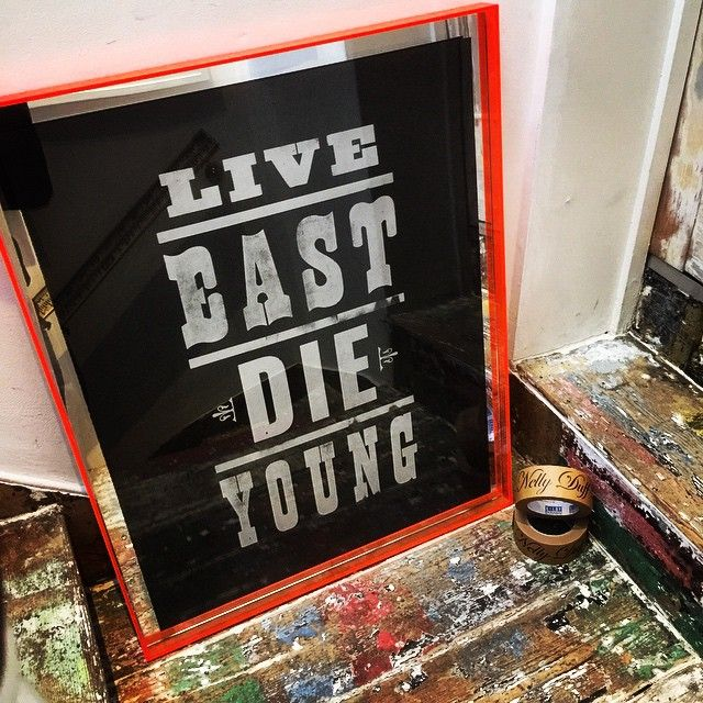 #NellyDuff #PureEvil #Live #East #Die #Young #screenprint #flruo #Orange #London #Hackney #Silver