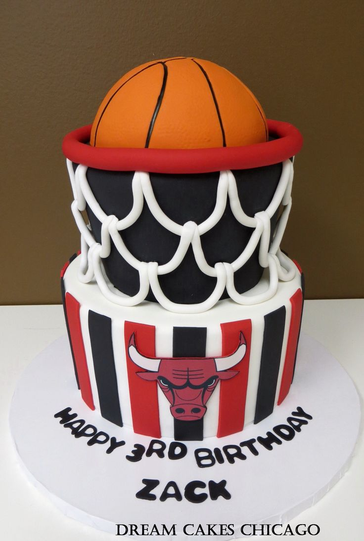 Bulls Cake by Dream Cakes Chicago
