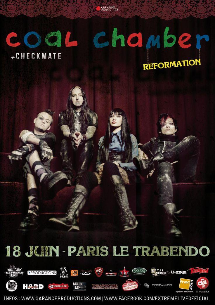 Concert de reformation de Coal Chamber au Trabendo 18/06/2013