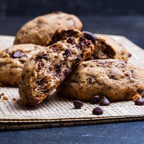 Chocolate chunk cookies, recipe in Russian. Печенье с кусочками шоколада, рецепт в блоге Dariasaveleva.com.